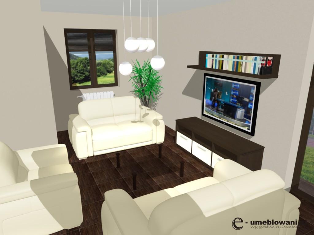 salon, oświetlenie, żyrandol, kanapy skórzane, drewno, płytki na podłodze