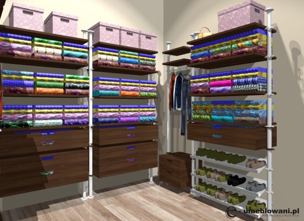 garderoba, półki na buty, szuflady