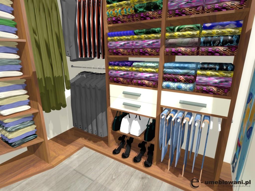 garderoba, buty, deska do prasowania, miejsce na buty, torebki, orzech 9451