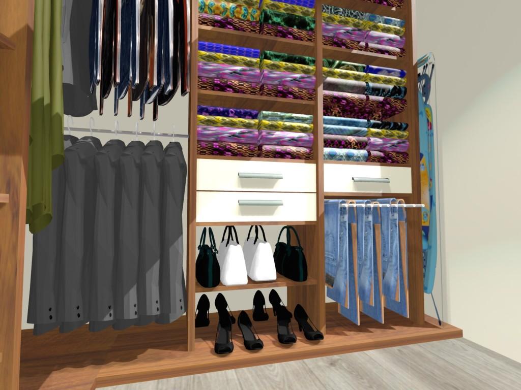 garderoba, orzech, deska do prasowania, szuflady