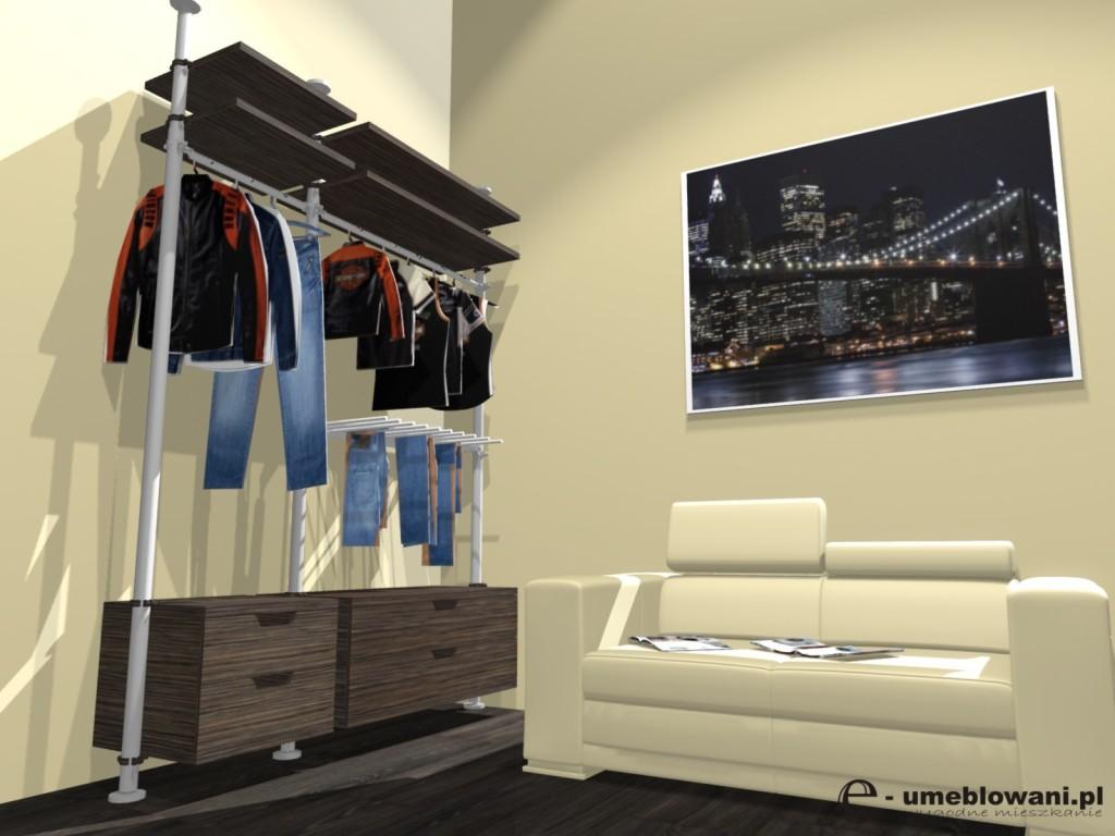 pokój dla nastolatka, kanapa, biurko, telewizor, garderoba