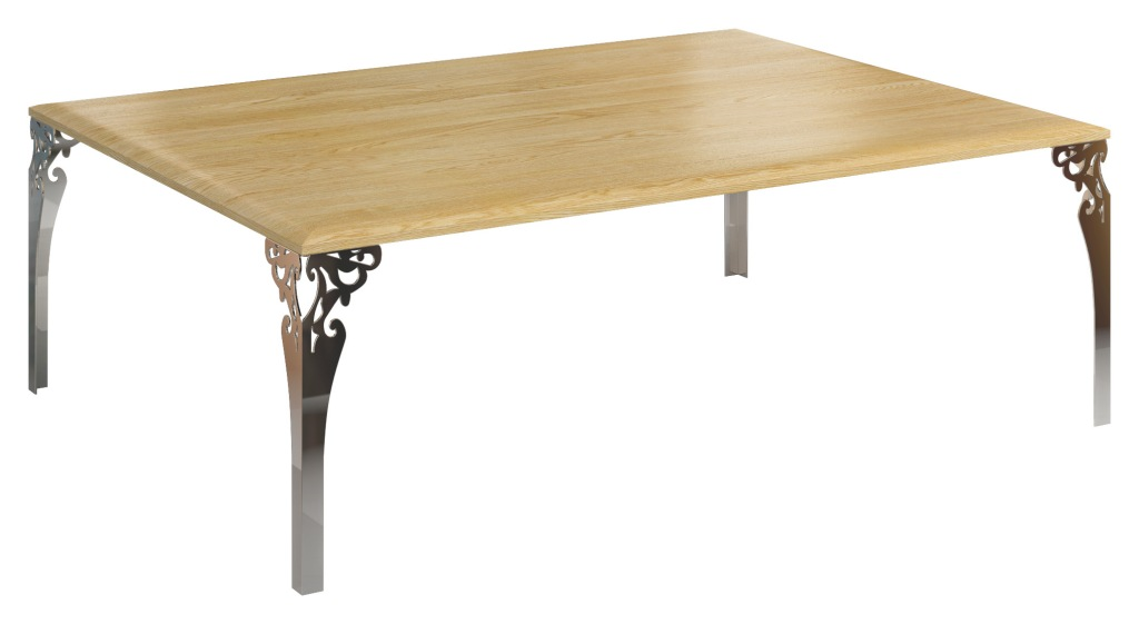 Stolik z blatem pełnym Bonita, stolik kawowy stylizowany, stylowy