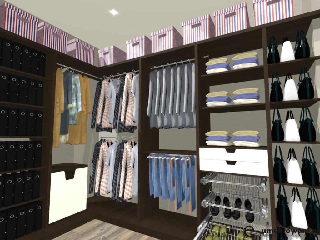garderoba, Szuflady na krawaty, półki, wieszaki, szuflady na krawaty