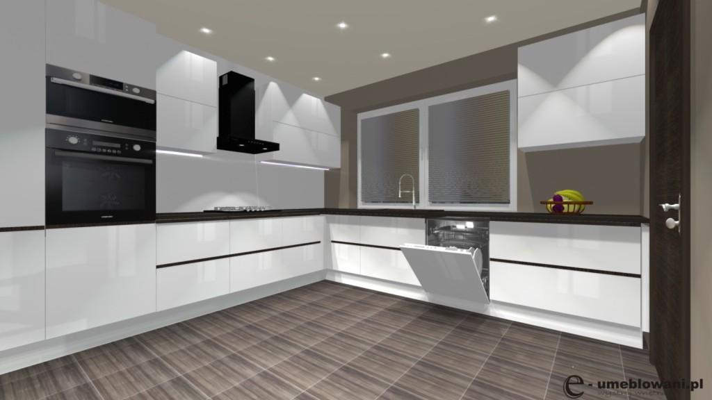 kuchnia biała, funkcjonalna, spiżarnia, otwarta kuchnia