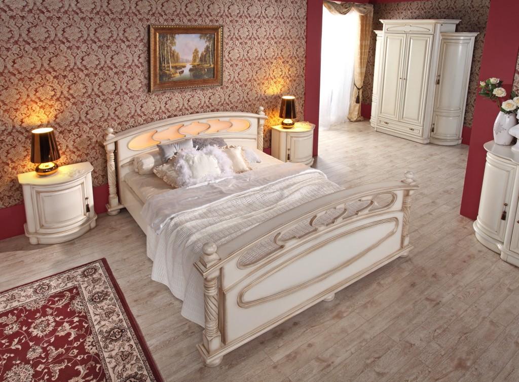 MEBIN, Opium, Sypialnia biała, szafa, łóżko, komoda, szafki nocne