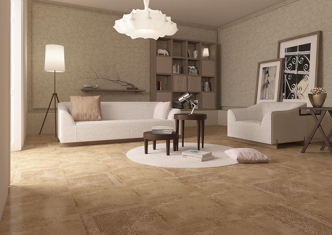 Pokój dzienny, beż, Opoczno_Misty Stone, kanapa, fotel