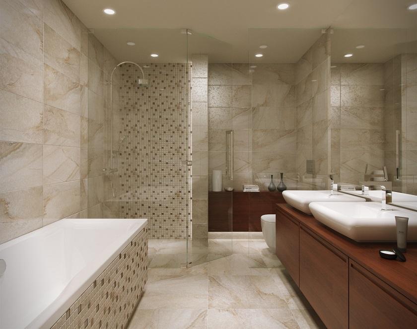 łazienka, wanna, szafka drewniana, Opoczno_Sahara