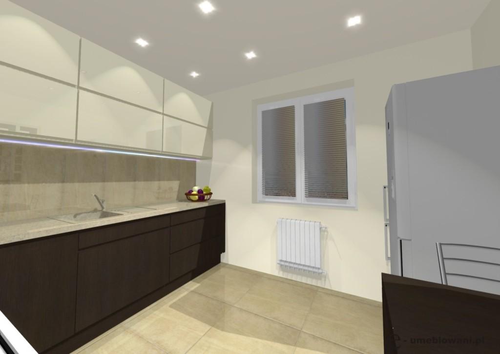 kuchnia wanilia, drewno, szafki kuchenne z uchwytem frezowanym,Jakie szafki do kuchni