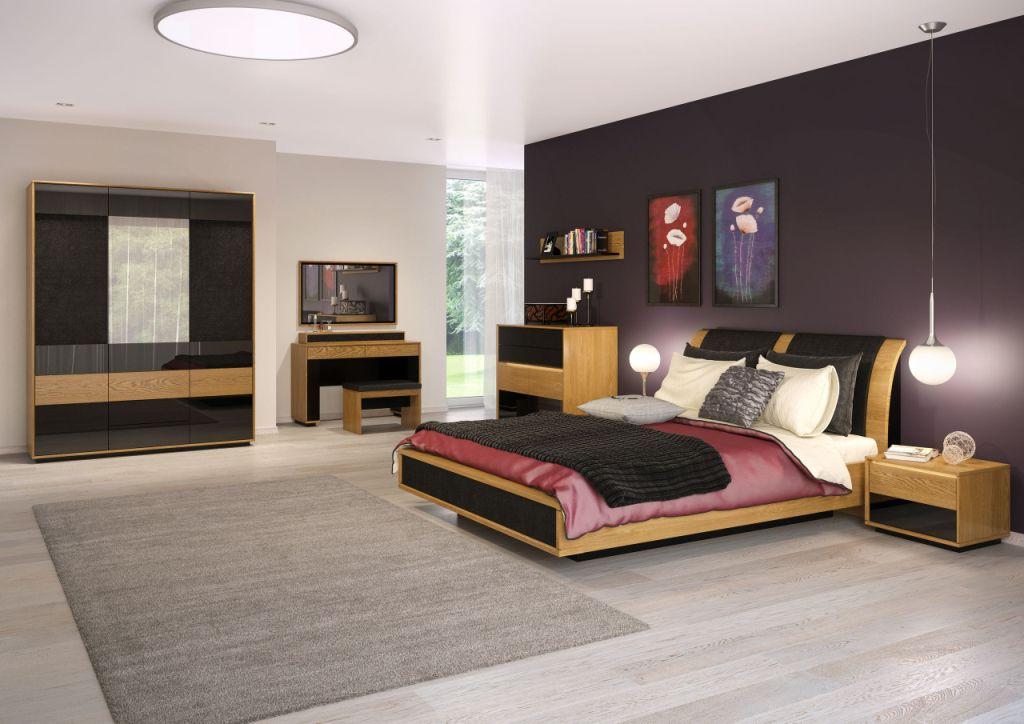 Sypialnia Mebin Primaver, łóżko, szafa, toaletka