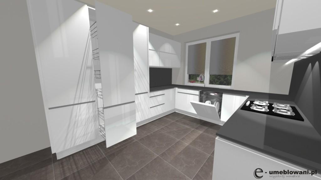 kuchnia biała, Jak rozmieścić urządzenia kuchenne, białą kuchnia