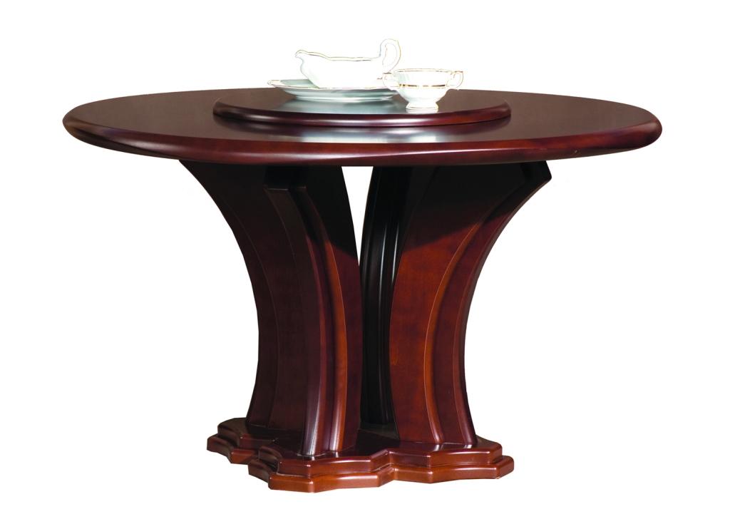 Stół okrągły z obrotowym blatem