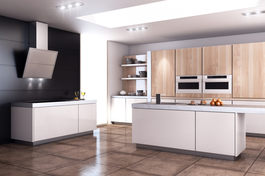 Pure Style aranżacja, kuchnia, wyspa kuchenna