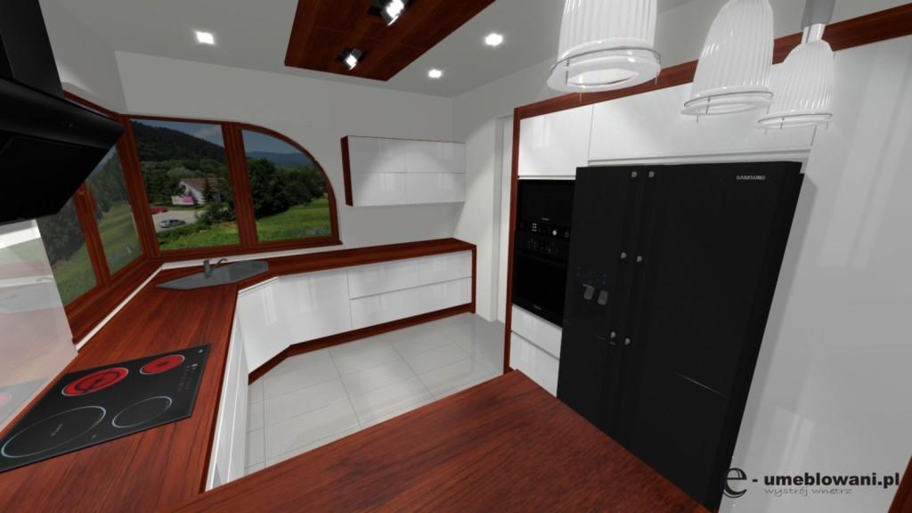 Kuchnia biała z oknem narożnym -> Aranżacja Kuchni Z Niskim Oknem