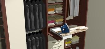 Projekt szafy z zintegrowana deską do prasowania