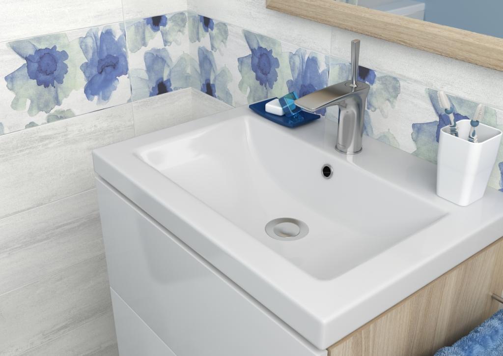 AKWI_Cersanit-łazienka jasnoszara, liliowa, drewno