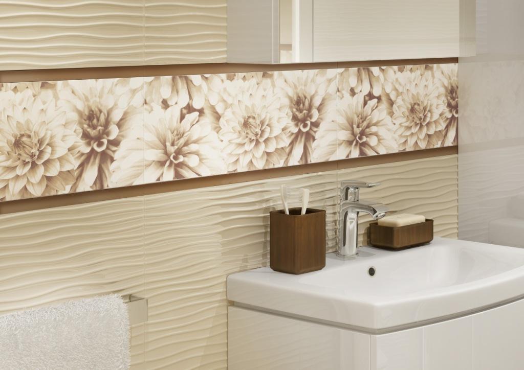 BUGI_Cersanit-łazienka pudrowy róż, czysta bieli piaskowy krem