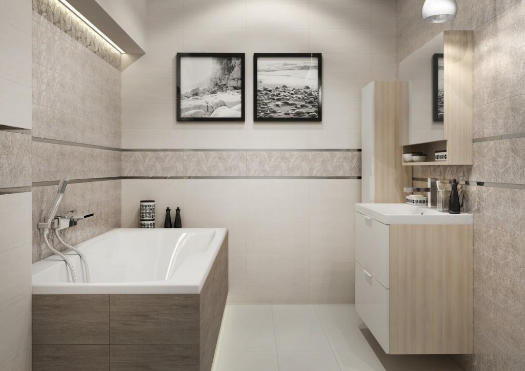 LIVI_Cersanit obudowa wanny, łazienka w drewnie