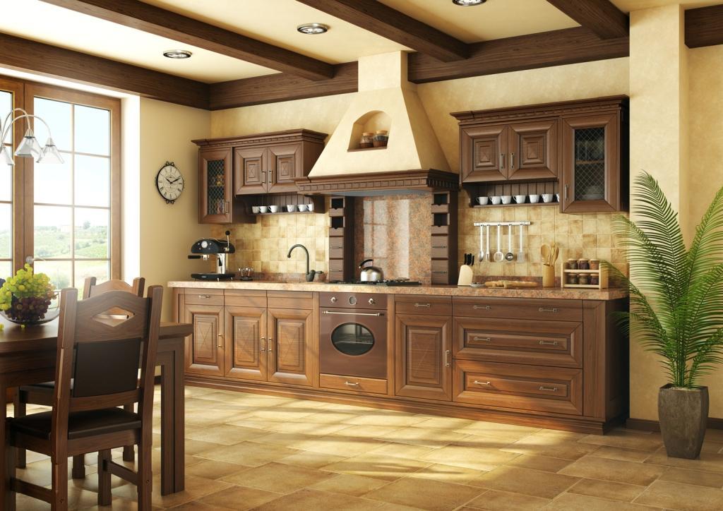 Toskania Kuchnia, kuchnia klasyczna, drewno, stół