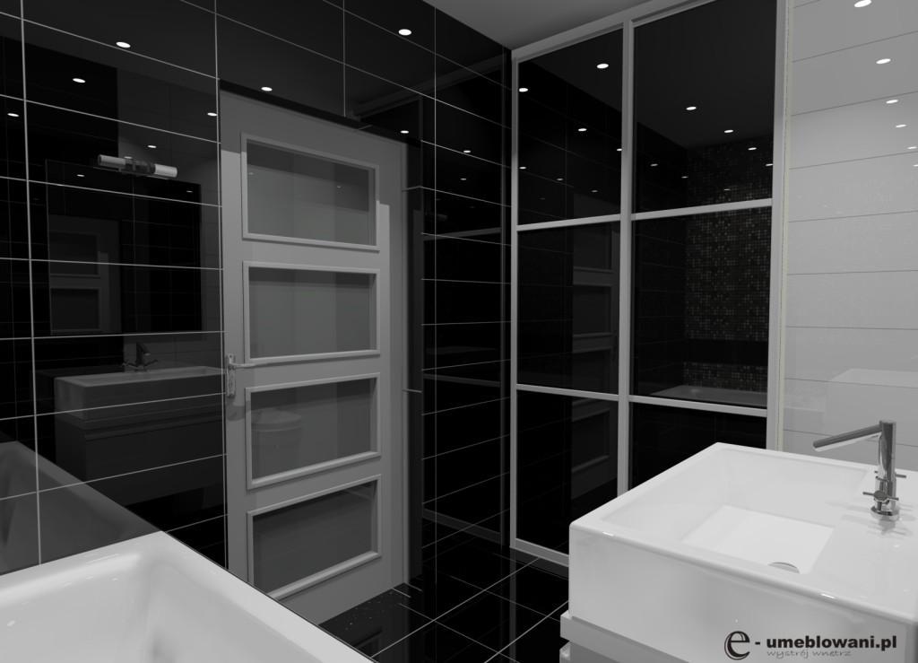 łazienka_czarna_biała_zabudowa_wanny