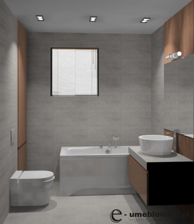 Aranżacja_projekt_łazienki_wystrój_loft_w_kolorach_beton_drewno