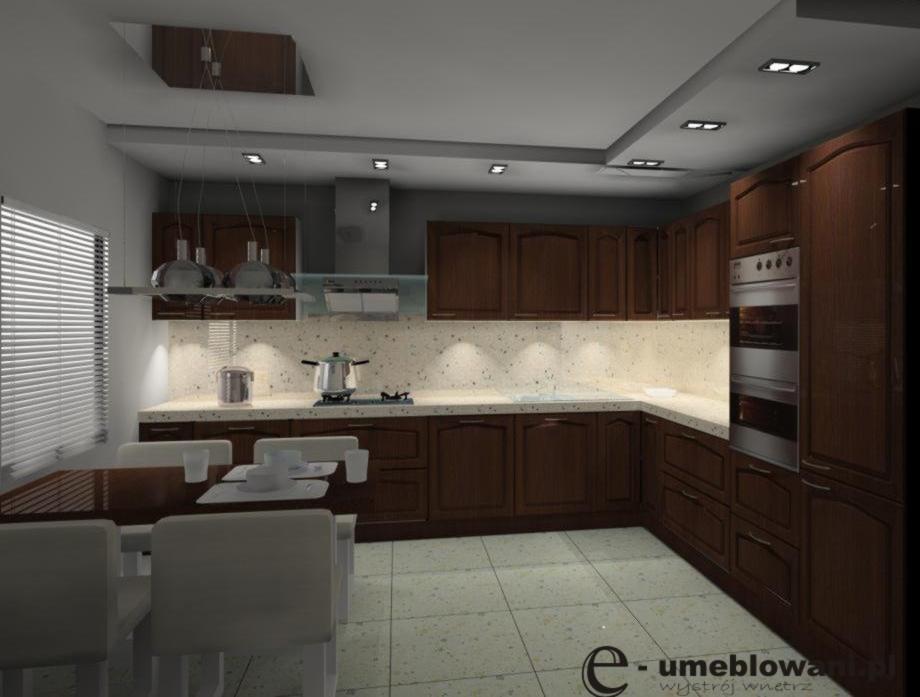 Kuchnia_klasyczna_brąz_beż_stół
