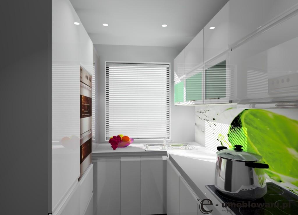 kuchnia-biała-fototapeta-limonka-kuchnia-z-jednym-oknem