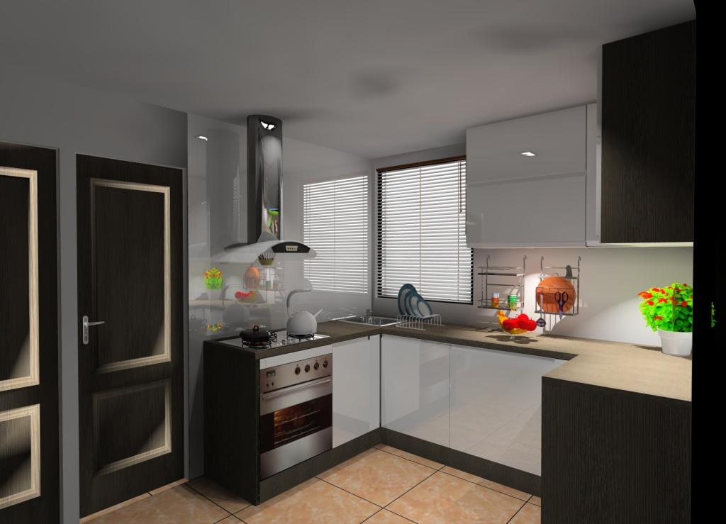 aranzacja-projekt-kuchni-malej-wystroj-nowoczesny-w-kolorze-bialy-braz-wenge-szkło-na-ścianie-białe