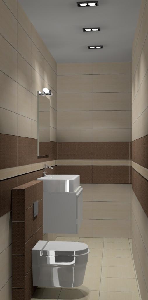 łazienka, beż, brąz-szafka-biała-zabudowa-wc-prysznic-sufit-podwieszany