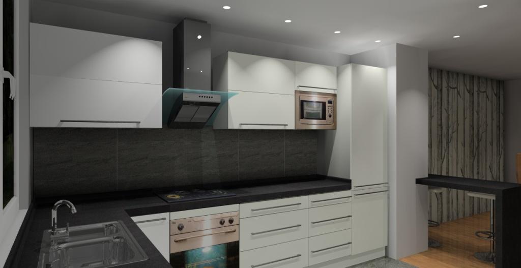 kuchnia-biała-grafit-fronty-białe-blat-grafit-podłoga-grafit