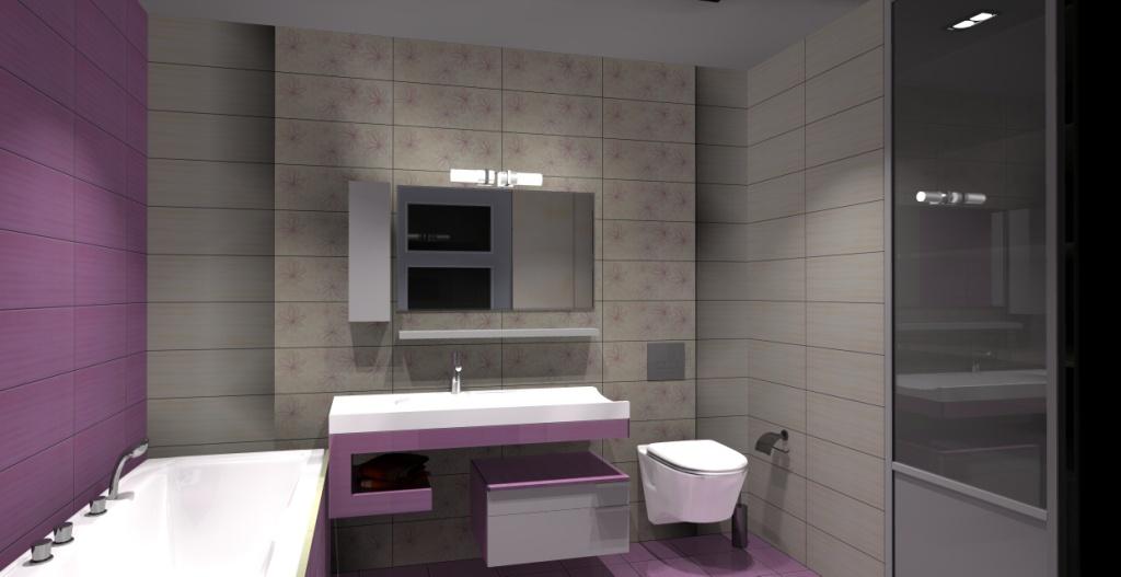 łazienka-krem-fiolet-plytki-opoczno-capri-umywalka-nablatowa-wanna-białe-szafki