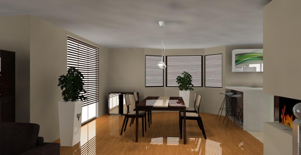 nowoczesny-salon-z-aneksem-kuchennym-biały-drewno-beż-jadalnia-stół-krzesła