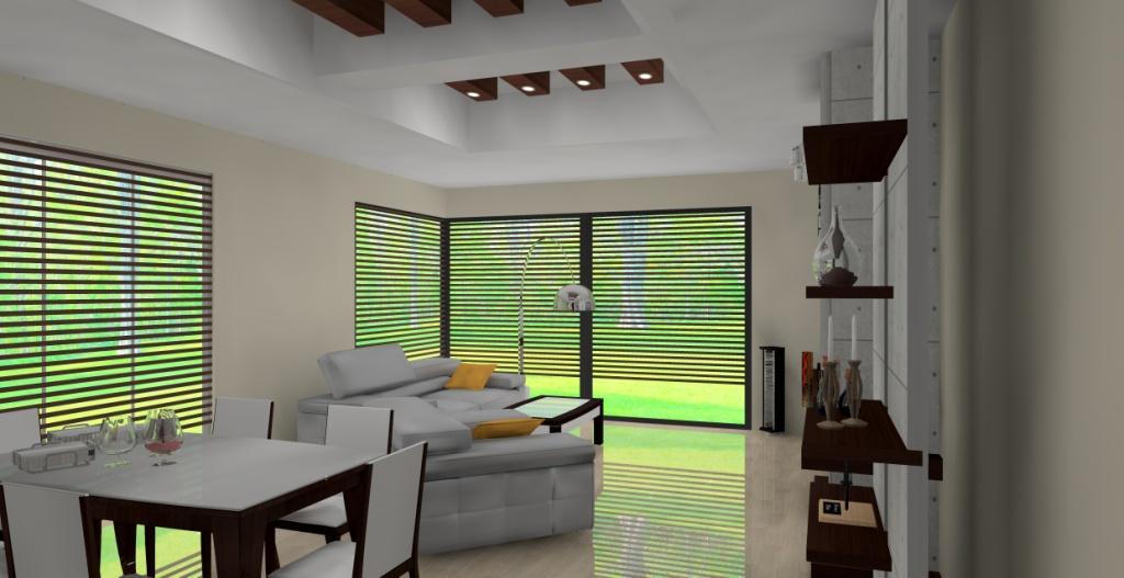 projekt-aranzacja-salonu-wystroj-nowoczesny-w-kolorze-szary-braz-beton-sufit-podwieszany