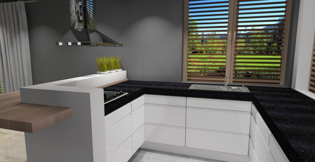 Kuchnia-biała-zlew-pod-oknem-narożnym-blat-drewno