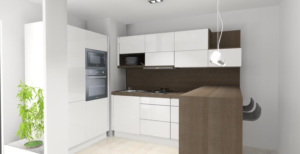 Kuchnia-biała-drewno-barek-sufit-podwieszany