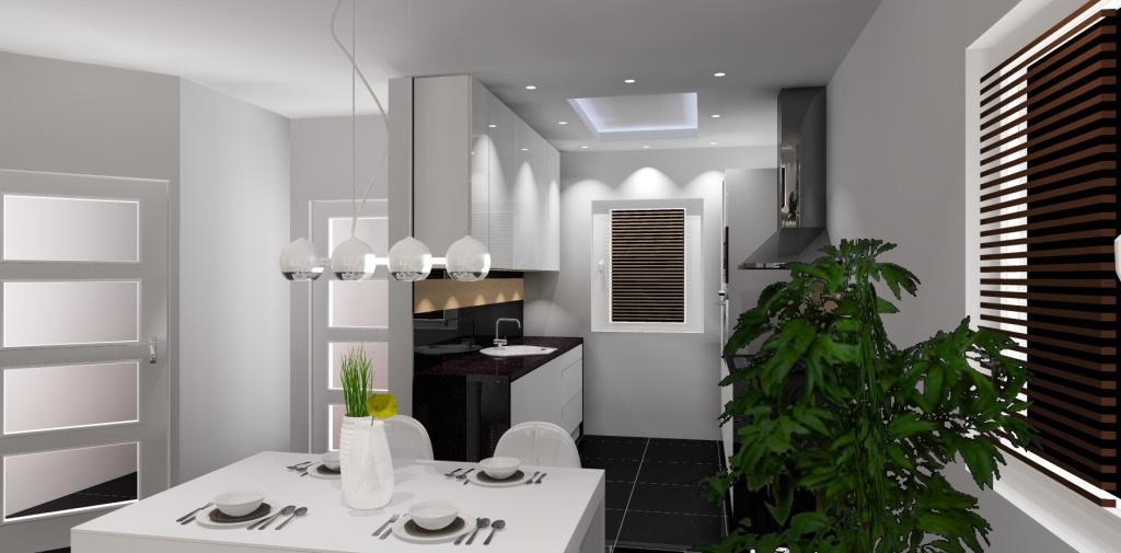 aranzacja salonu z aneksem kuchennym meble kuchenne waska   -> Meble Kuchnia Salon