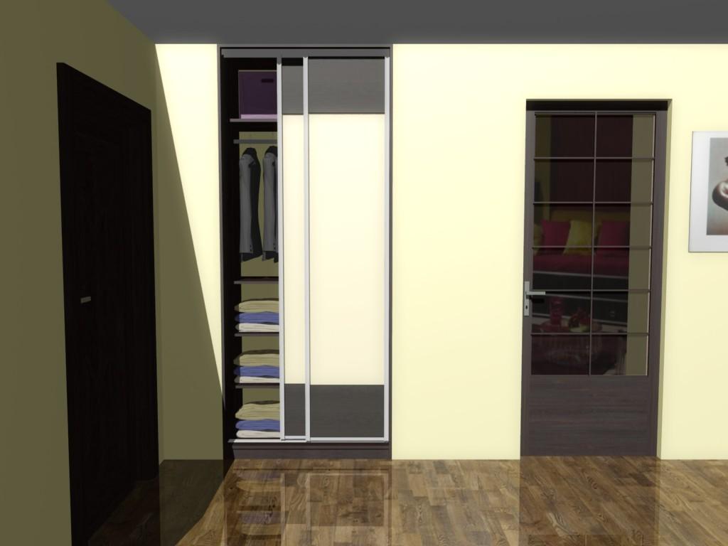 projekt szafy z drzwiami przesuwnymi