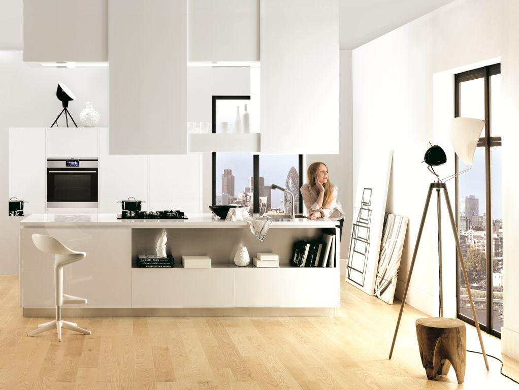 Strefa mycia produktów w kuchni, wyspa w kuchni