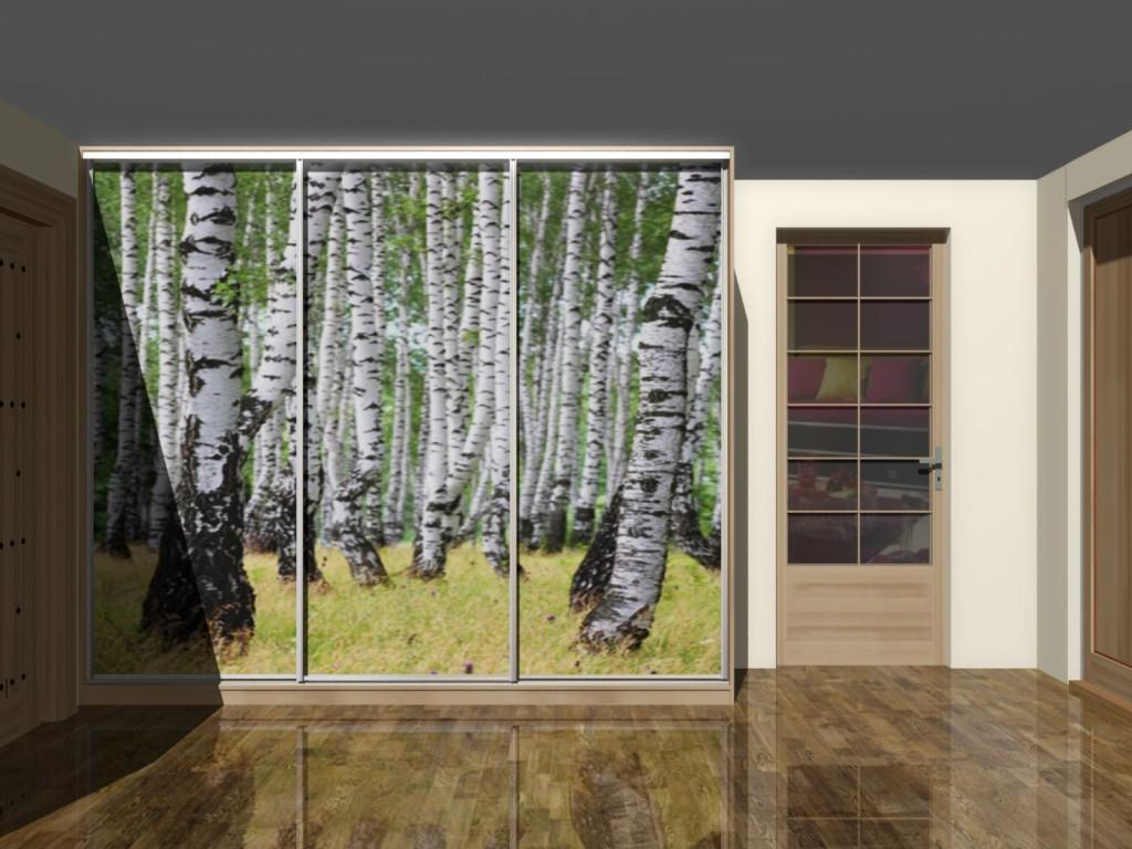 Fototapeta na drzwiach szafy