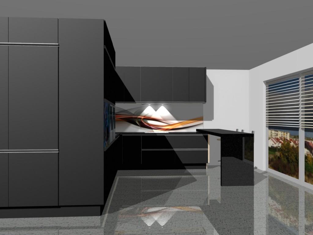 kuchnia nowoczesna, zabudowa do sufitu, czarna kuchnia