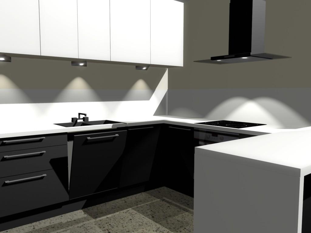 mała kuchnia białe fronty