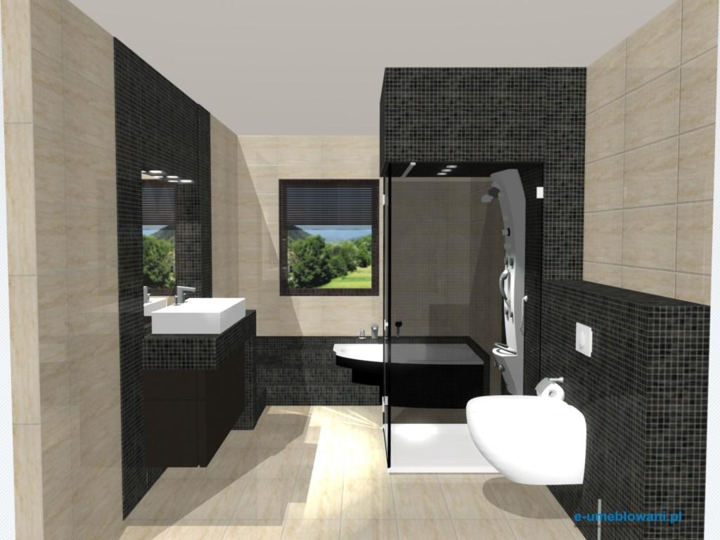 Projekt Łazienki w domku jednorodzinnym