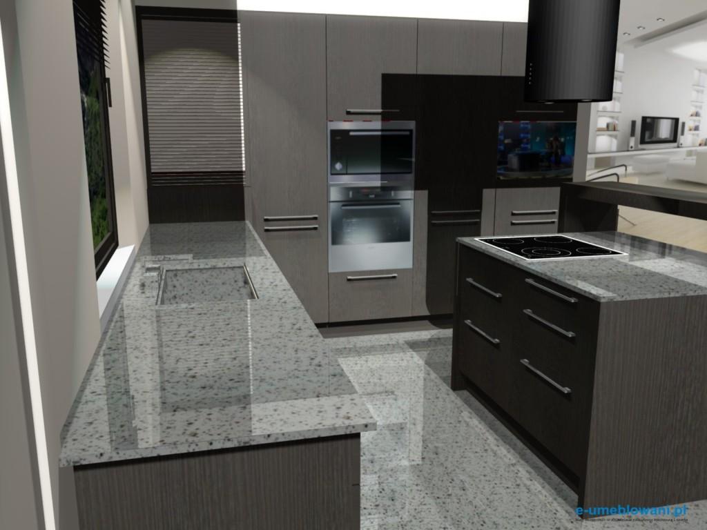 projekt kuchni otwartej na salon