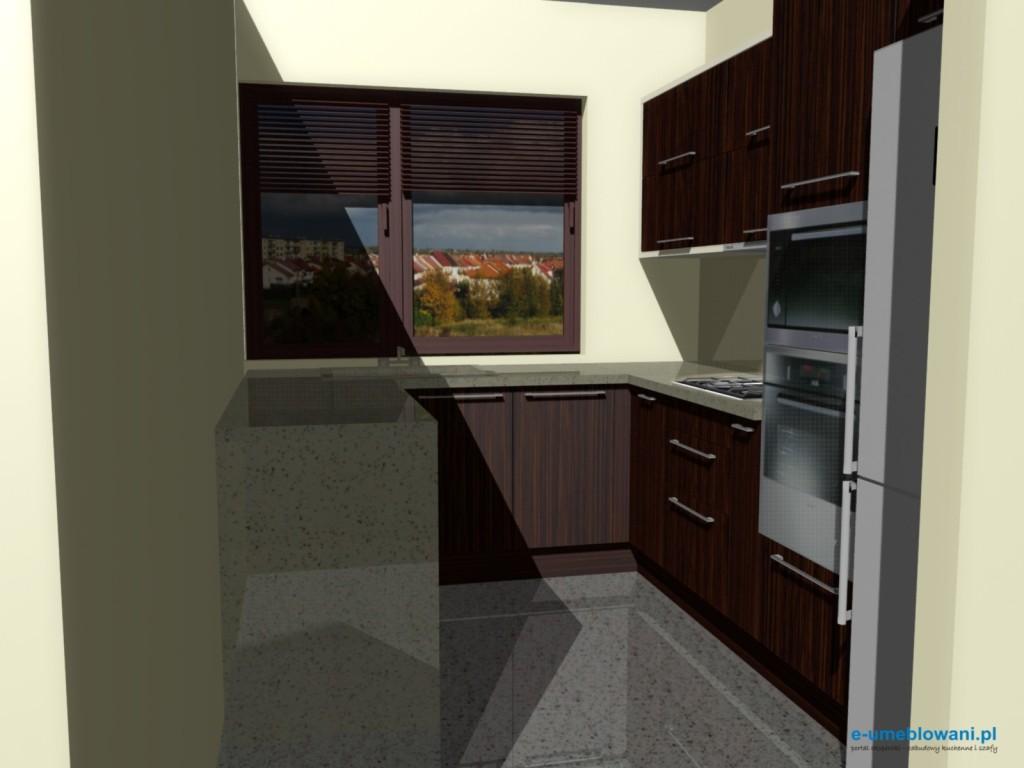 projekt kuchni zebrano z beżem 5