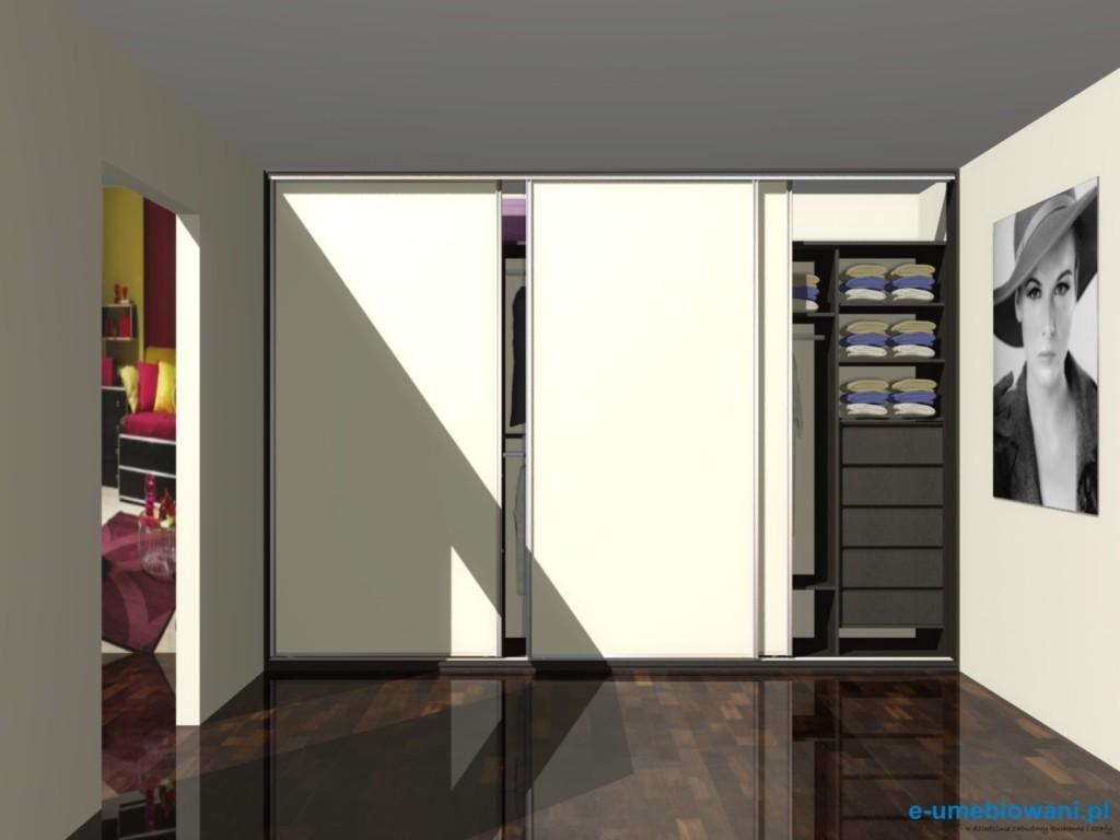 projekty szaf - szafa wnękowa z drzwiami przesuwnymi