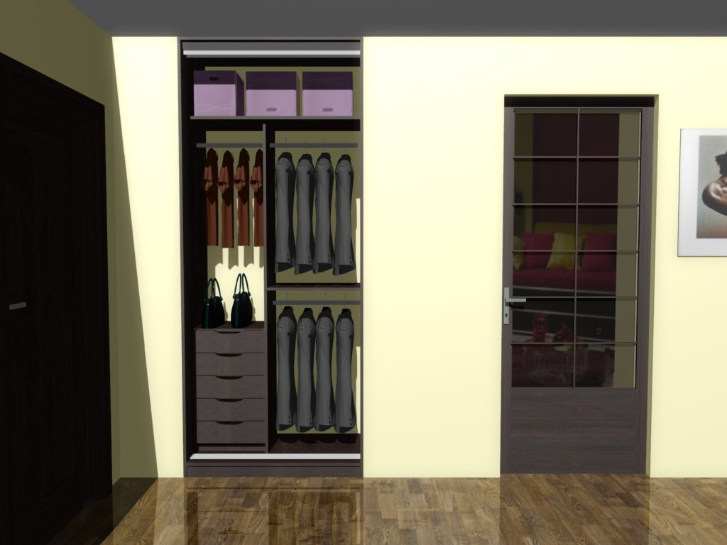 wnętrze szafy projekt