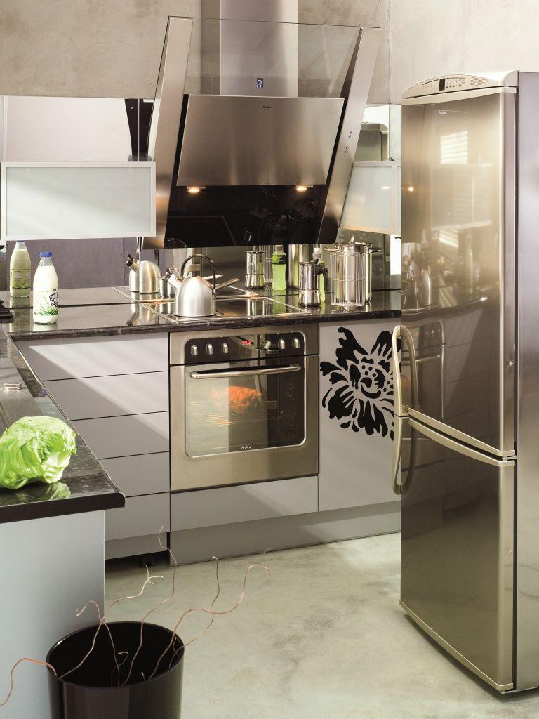 aranżacja kuchni stalowej