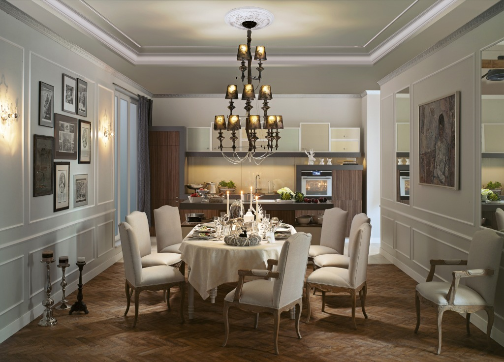 projektowanie kuchni, oswitlenie ogólne, oświetlenie podszafkowe
