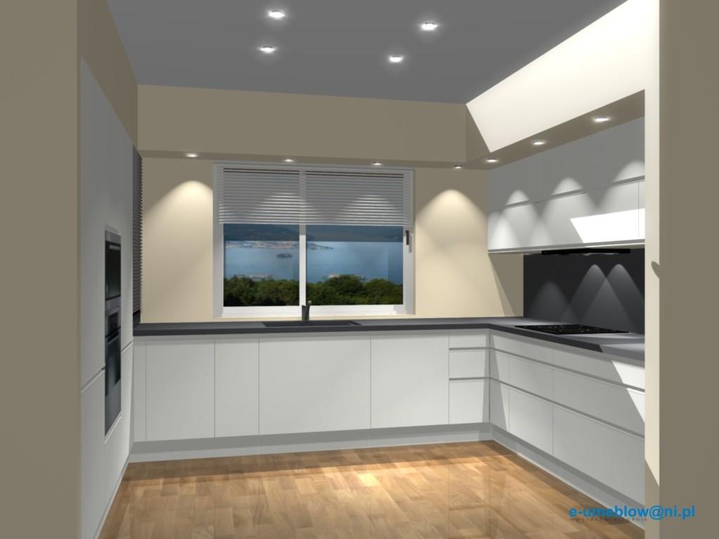 Projekt Kuchni Białej Projekty Wnętrz I Aranżacje Mieszkań