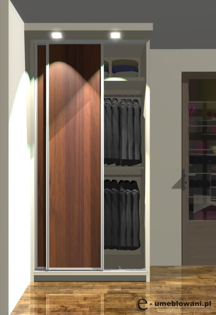 wnętrza szafy 120x602