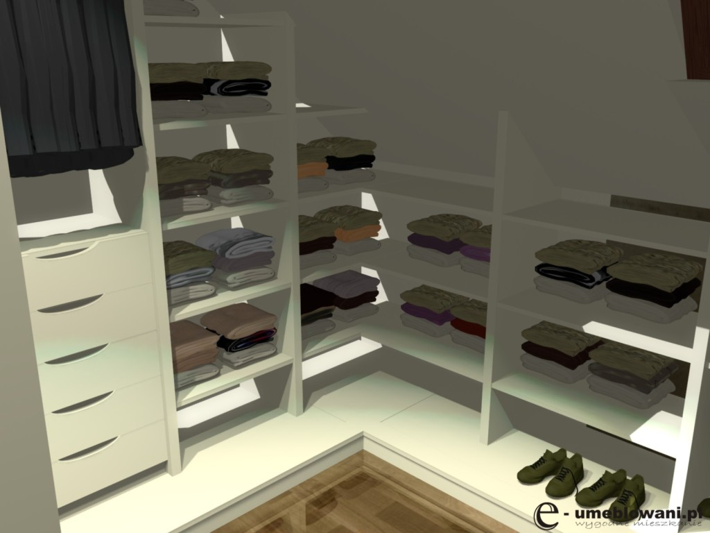 garderoba, półki na buty, półki na ubrania, aranżacje garderoby z szufladami